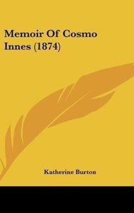 Memoir Of Cosmo Innes (1874)