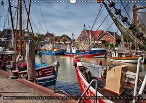 East Friesland - the old harbours / UK-Version (Wall Calendar 20