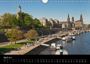 Dresden-Saxony-Germany-Europe / UK-Version (Wall Calendar 2015 D
