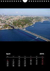 Istanbul - Bosphorus / UK-Version (Wall Calendar 2015 DIN A4 Por