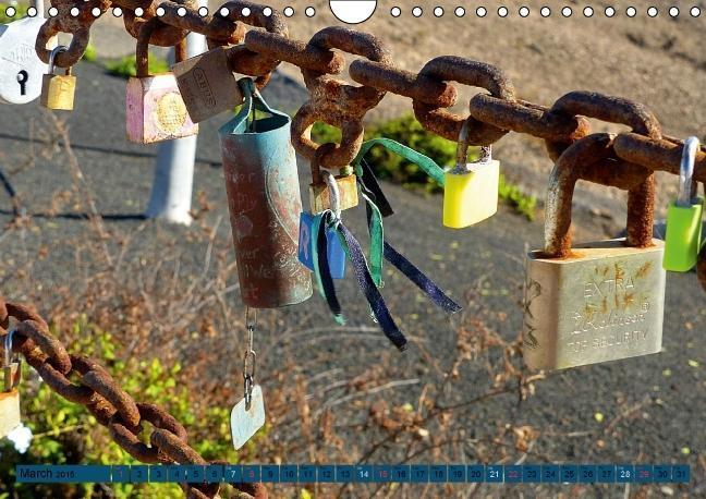 Love Locks / UK-Version (Wall Calendar 2015 DIN A4 Landscape) - zum Schließen ins Bild klicken