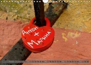Love Locks / UK-Version (Wall Calendar 2015 DIN A4 Landscape)