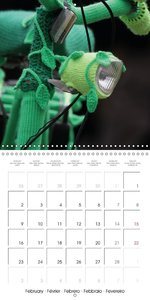 Artfully desigend bicycles (Wall Calendar 2015 300 × 300 mm Squa