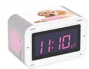 Radiowecker RR30 - Dogs III (LCD-Display dimmbar), RadioAlarmClo
