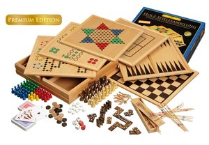 Philos 3101 - Holz-Spielesammlung 100, Premium Edition