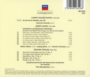Lieder und Orchesterlieder