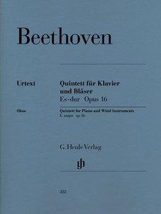 Quintett für Klavier und Bläser Es-dur op. 16 (Bläserfassung) fü