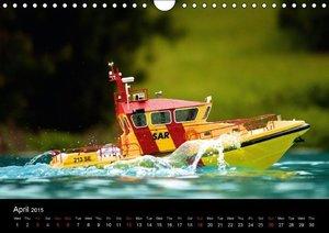 Model Boats in their element (Wall Calendar 2015 DIN A4 Landscap