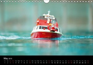 Model Boats in their element (Wall Calendar 2015 DIN A4 Landscap