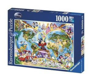Ravensburger 15785 - Disneys Weltkarte, 1000 Teile Puzzle