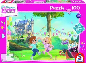 Prinzessin Emmy, Glitzerpuzzle, Große Party, 100 Teile Puzzle