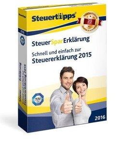 SteuerSparErklärung 2016 (für Steuerjahr 2015) für Selbstständig