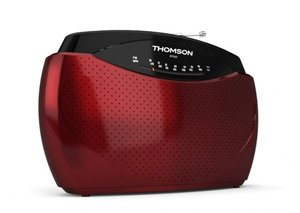 Thomson Radio RT223, tragbar, AM/FM, rot
