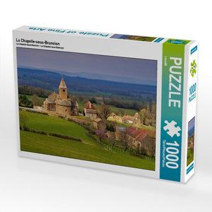 La Chapelle-sous-Brancion 1000 Teile Puzzle quer