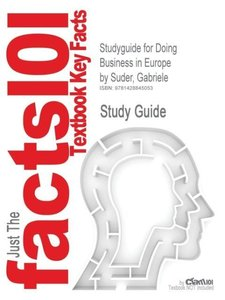 Studyguide for Doing Business in Europe by Suder, Gabriele, ISBN