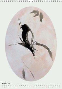 Les oiseaux de Carros (Calendrier mural 2015 DIN A3 vertical)