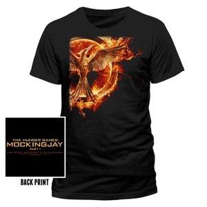 Mockingjay Flame (T-Shirt,Schwarz,Größe XL)