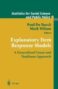 Explanatory Item Response Models