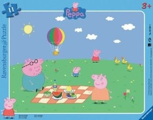 Ravensburger 06064 - Picknick mit Peppa, Puzzle, 12 Teile