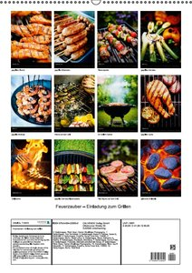 Feuerzauber - Einladung zum Grillen (Wandkalender 2016 DIN A2 ho