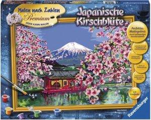 Japanische Kirschblüte. Malen nach Zahlen Serie Premium