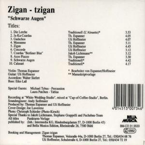"""Zigan-Tzigan """"Schwarze Augen"""""""
