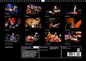 Jazz drums (Calendrier mural 2015 DIN A3 horizontal)