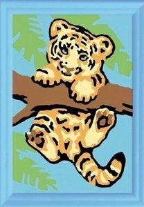 Ravensburger 29521 - Tigerbaby, MNZ, Malen nach Zahlen