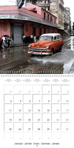 AMERICAN DREAMBOATS - STATION WAGONS IN CUBA (Wall Calendar 2016