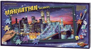 Schipper 609220369 - Manhattan bei Nacht, MNZ, Malen nach Zahlen