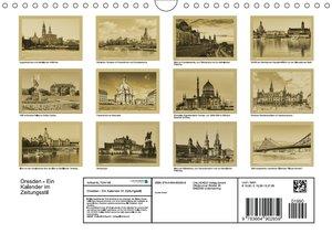 Dresden - Ein Kalender im Zeitungsstil