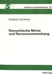 Semantische Netze und Textzusammenhang