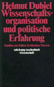 Wissenschaftsorganisation und politische Erfahrung