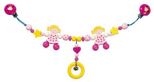 Goki 35320 - Kinderwagenkette Prinzessin, Holz
