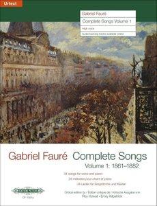 Sämtliche Lieder Band 1: 1861-1882 für hohe Singstimme und Klavi
