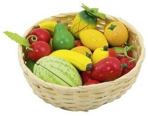 Goki 51661 - Obst im Korb, 23-teilig