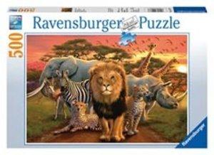 Savanne im Abendrot. Puzzle (500 Teile)