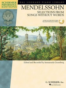 Mendelssohn - Selections from Songs Without Words: Book with Onl