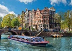 Grachtenfahrt in Amsterdam. Puzzle 1000 Teile