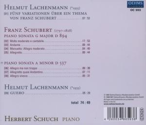 Klaviersonaten D 537 & D 894/+
