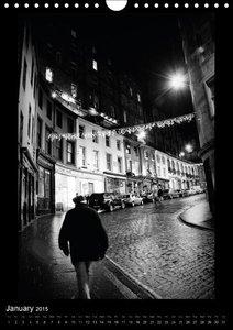Edinburgh Noir (Wall Calendar 2015 DIN A4 Portrait)
