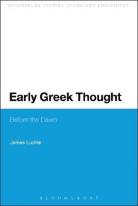 Early Greek Thought: Before the Dawn
