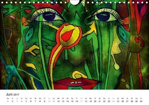Dschungel Gesichter (Wandkalender 2017 DIN A4 quer)