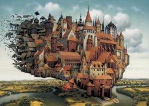Schmidt Spiele 59512 - Jacek Yerka: Fliegende Stadt, Puzzle, 100