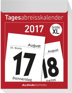 Tagesabreißkalender XL 2017 - (8 x 11)