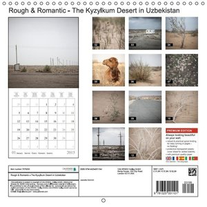 Rough & Romantic - The Kyzylkum Desert in Uzbekistan (Wall Calen