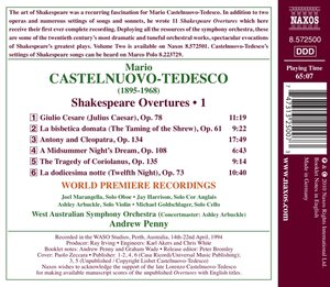 Shakespeare Overtures Vol.1