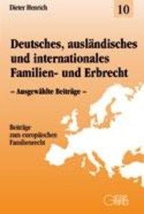 Deutsches, ausländisches und internationales Familien- und Erbre