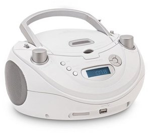 Radio CD-Player CD56USB, Top-Lader, tragbar, weiss