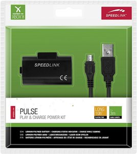 Speedlink PULSE Play & Charge Power Kit, Akku und Ladekabel für